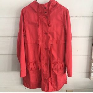 GAP spring button down trench coat— like-new—sz XS